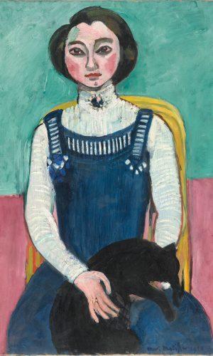 henri matisse marguerite au chat noir debut 1910 huile sur toile